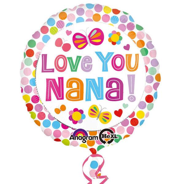 Amscan 3135701 Love You Nana Foil Balloons