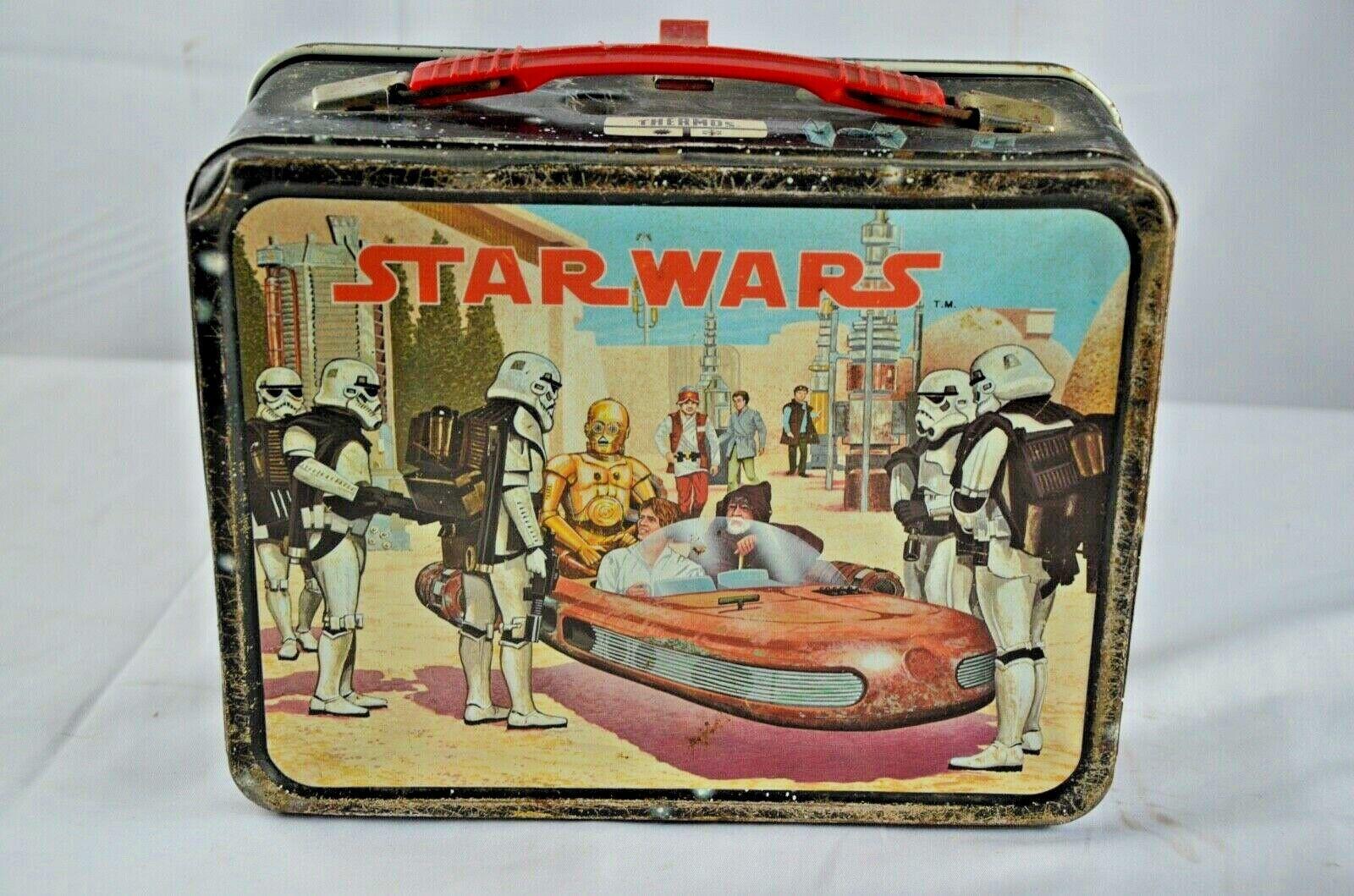 en linea Vintage 1977 sello Estrella Wars-Caja de de de almuerzo por Termo 014  para barato