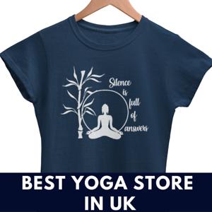 Signore-Donne-Yoga-T-Shirt-Yoga-Vestito-Donna-Top-Canotta-Yoga-Meditazione-Vegan-Camicia
