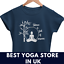Signore-Donne-Yoga-T-Shirt-Yoga-Vestito-Donna-Top-Canotta-Yoga-Meditazione-Vegan-Camicia miniatura 1