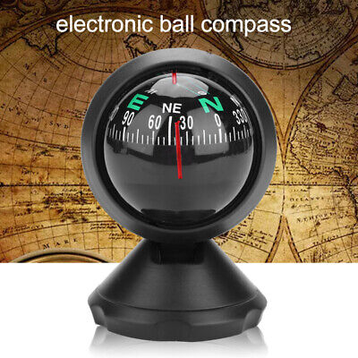 Ball Style Adjustable Dashboard Car Compass Guide Bicycle Car Truck Navigation