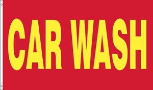 2 PACK - 3'x5' Ft CAR WASH Flag Banner Advertising Business Sign - rb