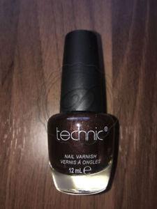 Technic-Nail-Polish-Double-Espresso-Varnish-Glossy-Shiny-Dark-Brown-Deep-Nails