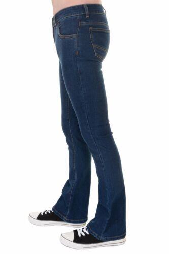 Fly Vintage 70s Blue Slim Run Denim Stonewash Mens amp; 60s Bootcut Stretch Jeans xEnwXCC6qY