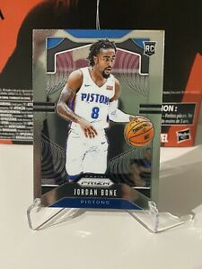 Jordan-Bone-RC-2019-20-Panini-Prizm-Base-Rookie-Card-291-Detroit-Pistons-NBA