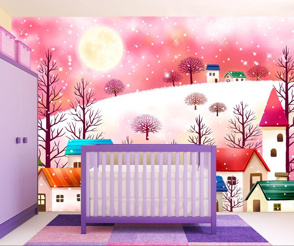 3D Monde Rose 31 Photo Papier Peint en Autocollant Murale Plafond Chambre Art