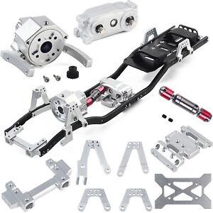 313mm-Radstand-Fahrgestellrahmen-Praefix-Getriebe-fuer-1-10-AXIAL-RC-Auto-Crawler