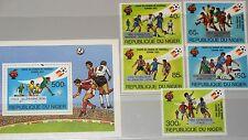 NIGER 1982 814-18 Block 39 603-608 Soccer World Cup Fußball WM Winner ovp MNH