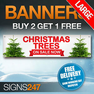 Large-CHRISTMAS-TREES-NOW-ON-SALE-waterproof-PVC-banner-sign-YB003