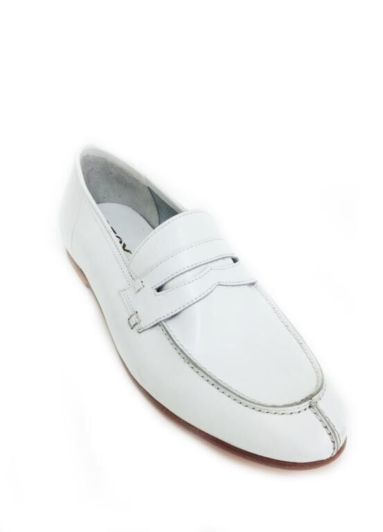 New no box GEOX slip on loafer shoes vero cuoio white Men's shoes size 8 US 41EU
