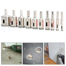 10* Diamant Glasschneider Kern Glas Bohrer Set Diamant-Lochsäge Fliesen 6mm-30mm
