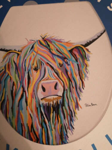 Soft Close Angus McCoo Toilet Seat Artwork by Steven Brown