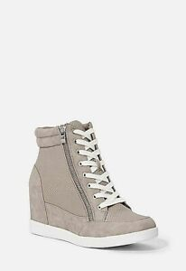 Womens-Ladies-Zip-Up-Wedge-Heel-Ankle-High-Top-Trainers-Sneakers-Boots-Shoes-UK