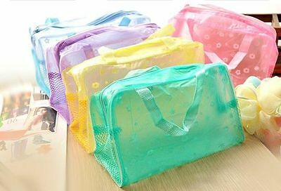 Free Shipping color Random Makeup Cases Makeup Bags Pouch Transparent Travel bag