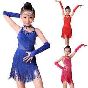 b5caec6d7224 Toddler Kids Girls Latin Ballet Dancewear Ballroom Dance Dress Party ...