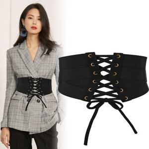 women fashion wide waist belt elastic corset waistband