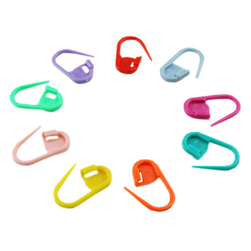 Mix Color Knitting Craft Crochet Locking Stitch Needle Clip Markers Holder