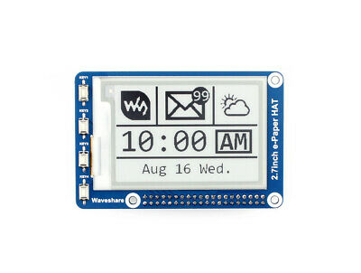 Waveshare 2.7inch E-Ink Screen Display HAT for Raspberry Pi 264x176 Resolution