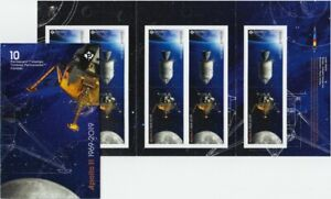 fs-APOLLO-11-50th-Booklet-of-10-stamps-5-Tete-Beche-Pairs-Canada-2019-MNH
