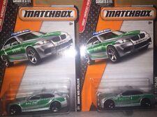 Lot Of 2 Matchbox BMW M5 POLICE POLIZEI  MBX Heroic Rescue New IP 1:64 Die Cast