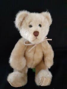 First-amp-Main-034-Minky-034-Plush-Teddy-Bear-8-034-Stuffed-Animal-Leather-Bow-Faux-Mink