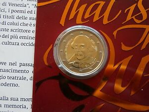 2-Euro-Sondermuenze-San-Marino-2016-400-Todestag-von-William-Shakespeare-Folder