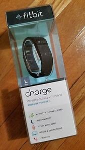 Fitbit Charge Wireless Activity Tracker + Sleep Wristband (Large) - Black