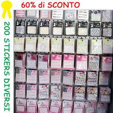 200 nail art STICKERS 2D/3D-10 modelli diversi- Offerta con lo SCONTO del 60%!!!