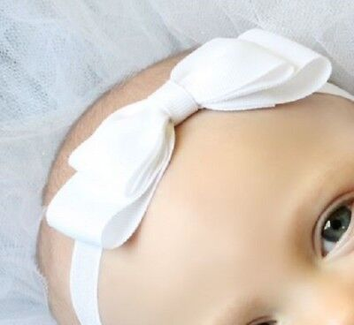 Special Section White Baby/toddler/girl Bow Headband