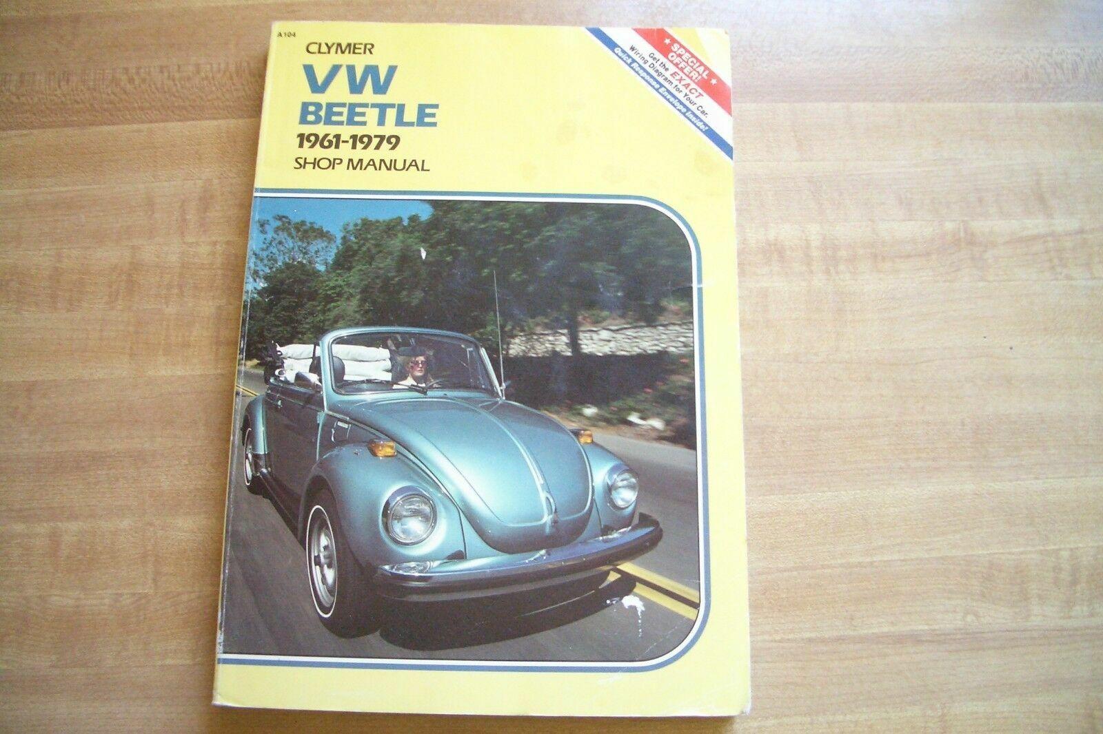 Volkswagen VW Beetle /& Ghia 1961-1979 Clymer Shop Service Manual USED