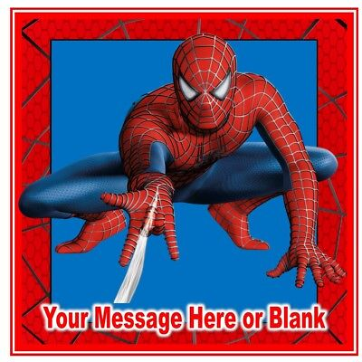 Prime Spiderman Birthday Icing Personalised Square Birthday Cake Topper Personalised Birthday Cards Paralily Jamesorg