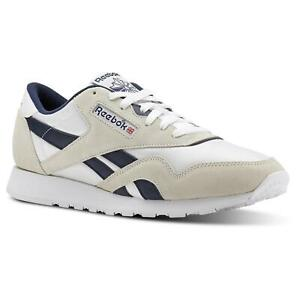 Reebok-Homme-Classic-nylon-Archive-Baskets-Baskets-Chaussures-Blanc-Retro-Vintage