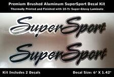SuperSport Camaro SS Decal Kit Brushed Aluminum Fender Hood Scoop Laminated 0051