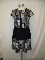 Women's Betsey Johnson Sizes 2 6 8 10  Gray Black Vintage Stone Dress 17 210