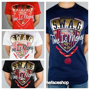 Time-Is-Money-SWAG-T-Shirt-Supreme-HIP-HOP-Urban-Graffiti-T-Shirt-Bling-Retro