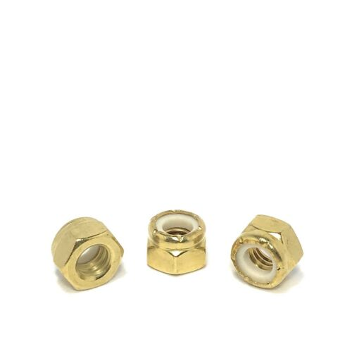 5//16-18 Brass Nylon Insert Lock Nuts Locking Hex Nuts 5//16-18 Solid Brass 25