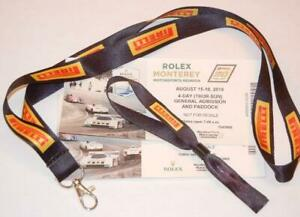 Pirelli-Tire-race-pass-lanyard-VIP-wrist-band-2-expired-Laguna-Seca-tickets