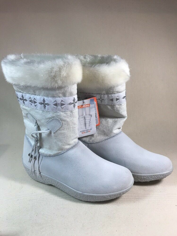 NEW NWOB Stiefel TECNICA SKANDIA SPORT MID Stiefel NWOB Damenschuhe Weiß SKI SNOW SIZE 8.5 bc1e53