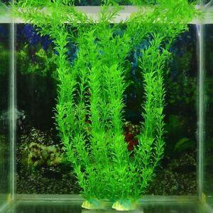 30cm-Deko-Kuenstliche-Pflanzen-Wasserpflanzen-Fish-Tank-Aquarium-Kunststoff-Gras