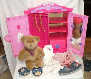 Beau Image Is Loading Build A Bear Beararmoire Fashion Case Closet Wardrobe