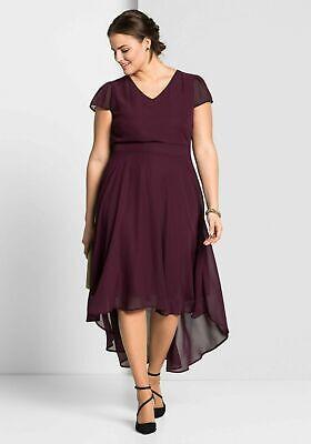 Sheego Abendkleid Gr.48+50+52+54+56+58 Rot Kleid Knielang Maxikleid Cocktailklei | eBay