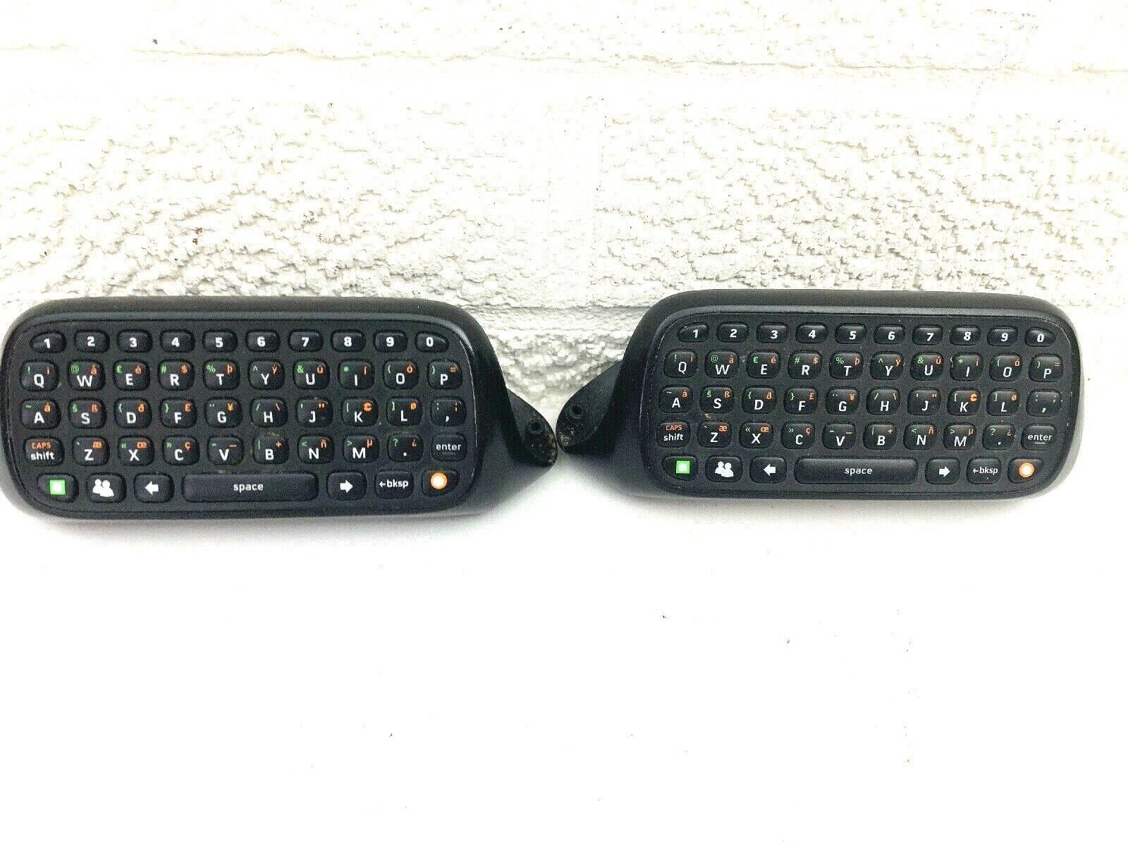 Wireless Keyboard Chat Pad for Microsoft Xbox 360 Controller Lot Of 2!