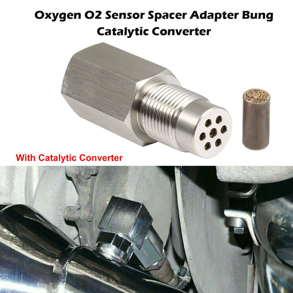 O2 Sensor Adapter Catalytic Exhaust Spacer Bung Fix Check Engine Light M18x1.5
