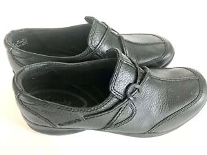 Clarks-In-Motions-Women-039-s-Loafers-Black-Top-Grain-Leather-Size-8-Excellent-Sport