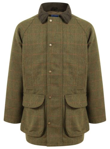 Derby Tweed Jacket Mens Waterproof Breathable Hunting Shooting Fishing Warm New