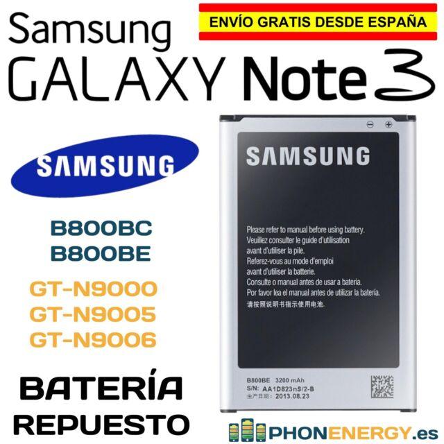 BATERIA PARA SAMSUNG GALAXY NOTE 3 III GT-N9000 N9005 EB-B800BE B800BC 3200mAh