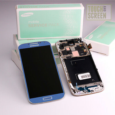 Original Samsung Galaxy S4 LTE GT-i9505 Display Screen blau blue GH97-14655C
