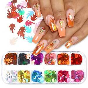 Fashion-3D-Laser-Flame-Sequins-Nail-Art-Flakes-Glitter-Foil-Decoration-12-Colors