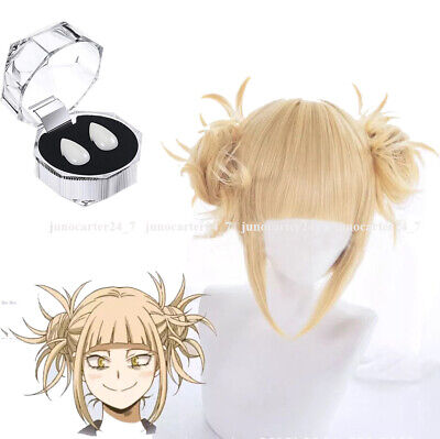 Boku no My Hero Academia Himiko Toga Cosplay Hair Wig Bun Animation TV Ver.