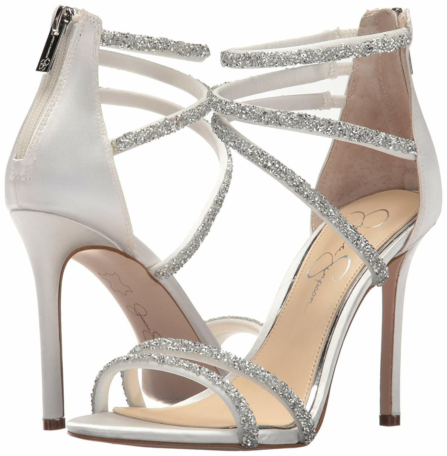 9130af18a44 Jessica Simpson Womens Jamalee Heeled Sandal White 8.5 M US for sale ...